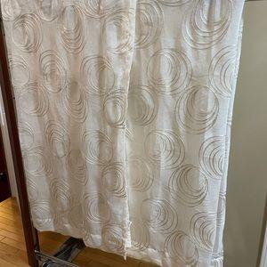 Cortina Sheer Embroidered Drapes - Pair